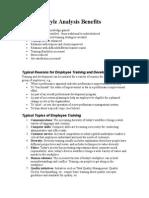 Training Style Analysis Benefits