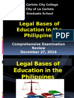 Legal Foundation of Education in the Phil