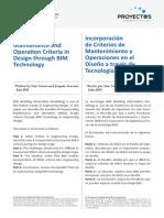 Incorporating Maintenance and Operation Criteria in Design through BIM Technology