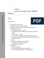 Modelling the Ecology of the Kaibab Plateu