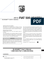 Abarth 500 2012 Misc Documents-Blue and Me User Manual