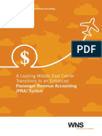 A Leading Middle East Carrier Transitions to an Enhanced Passenger Revenue Accounting (PRA) System