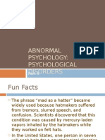 Abnormal Psychology Psychological Disorders Part II