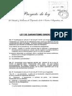 Ley 23.551 Ley de Garantismo Sindical