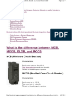 What is the Difference Mcb Mccb Rcd