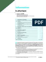 Théorie de l'information - Application à la physique-ARTICLE.pdf