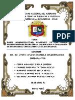 seminario de adquisiciones del estado . proceso de seleccion
