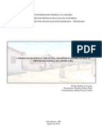A produção do espaço urbano da cidade de Patos - PB