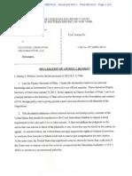 Affidavit of Anthony Blinken in support of bond waiver