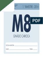 Mat8 1bim Aluno 2014