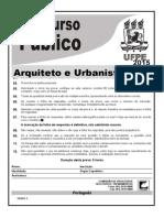 Prova Arquiteto e Urbanista UFPE 2015