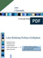 Hukum Dan Etik Keperawatan Gerontik