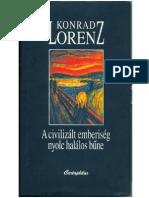 Konrad Lorenz a Civilizalt Emberiseg Nyolc Halalos Bűne