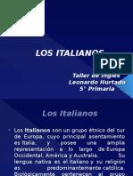 Italianos en ingles