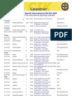 Calendrier karting international 2007