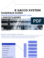 Superior Sacco and Chama Documentation Proposal