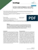 Extraneural Metastasis of Cranial Meningioma