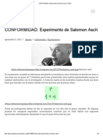 Asch Experimento