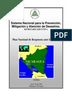 Plan Nacional Ante Desastres.