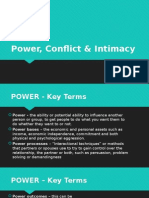 Power, Conflict & Intimacy
