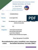 Procesos Para Construir Una Empresa (SAC)