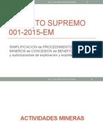 15070 Exposicion DS 001-2015-EM Procedimientos Mineros DGM  - Julio2015.pptx