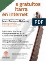 Cursos Gratuitos de Guitarra en Internet 2014 - Delcamp