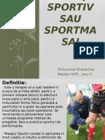 Masaj Sportiv Sau Sportmasaj