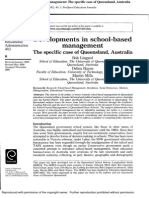 Developments in School -Based Management