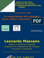 L.maesano 12-13 Nov 08 - La Cooperazione Internazionale