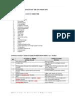 Mark Scheme for Bahan Seminar