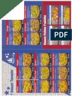 Carte US Pizza