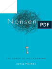 Nonsense by Jamie Holmes - Excerpt