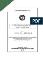 2. Uji Kinerja Marshall Agregat Bantak Merapi Dengan Menggunakan Serat Polypropylene
