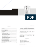 Manual Control Acceso Sebury Bc 2000