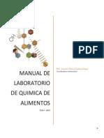 Manual Laboratorio Química de Alimentos