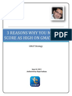 3 Reasons Why You May Not Score as High on GMAT Verbal -Ver2.0