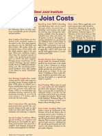 Reducing Joist Costs