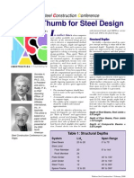 Rules of Thumb Steel Design