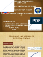 TraSbajo de Hoy Variables Regionalizadas
