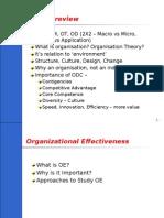 Organisation and Organisational Effectiveness