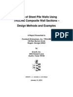 Design Methods and Examples sheetpiles