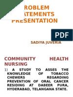 Problem Statements Presentation