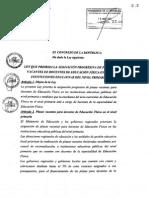Ley Crea Plazas de Educ. Fisi