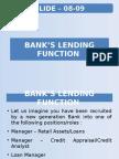 Slide 08 09 Bank's Lending Function