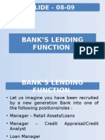 Slide 08 09 Bank's Lending Function