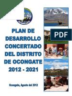 Plan de Desarrollo Concertado Del Distrito de Ocongate 2012 - 2021