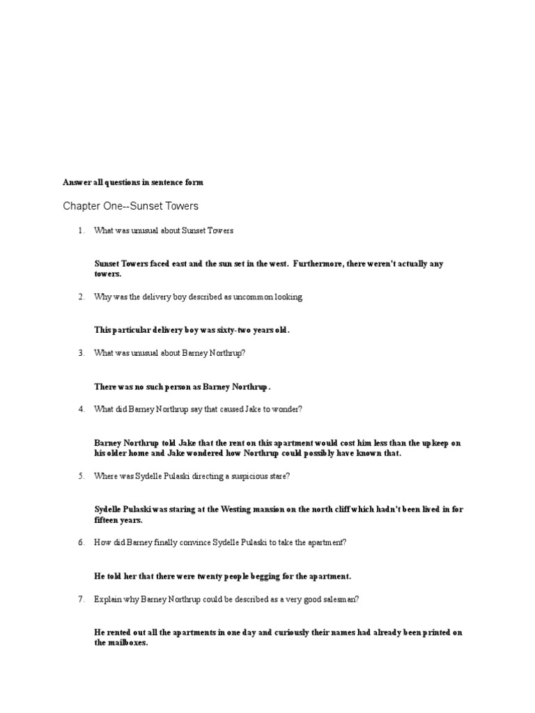 Worksheets. The Westing Game Worksheets. Christopherjoel Free ...
