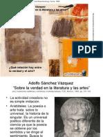 Sánchez Vázquez - Sobre La Verdad en Literatura y Las Artes