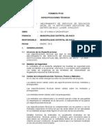 ESPECIFICACION TECNICA  Chalcos -ANCO